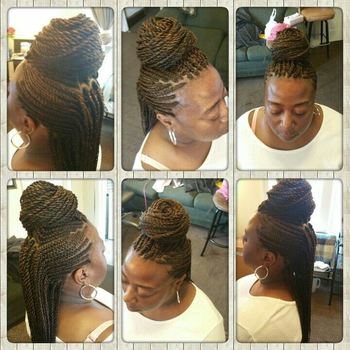 Mohawk With Senegalese Twist In The Middle Life Style