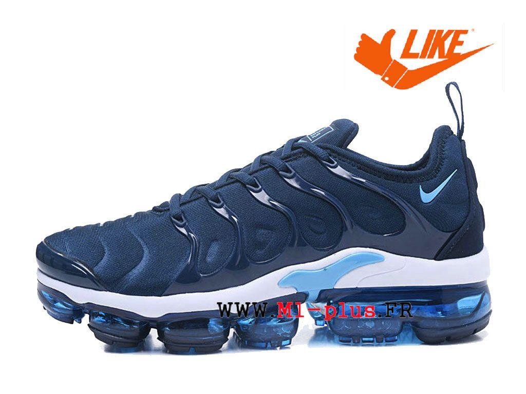 promo code 03d7d 6d282 Chaussures de Basketball Nike Prix Pour Homme Nike-Air-VaporMax-Plus Tn  Bleu Blanc AO4550-ID10