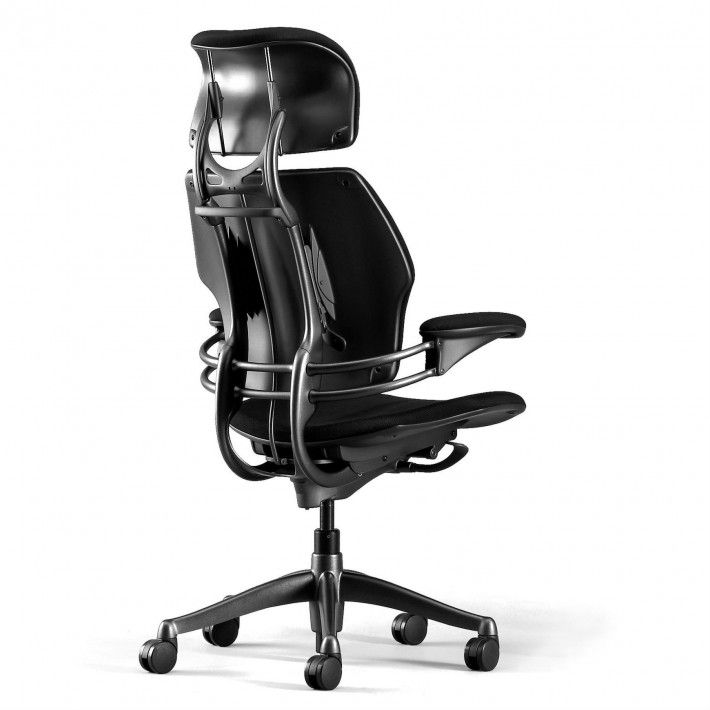 Intelligent counter-balance recline mechanism automatically provides the right amount of support through the full range of recline motion, regardless of user size and weight Pivoting Backrest Synchronous armrests Standard cylinderprovides seat height range that accommodates 95% of the population Contoured cushions Body fit – size adjustable to fit more than 95% of the population Optional...