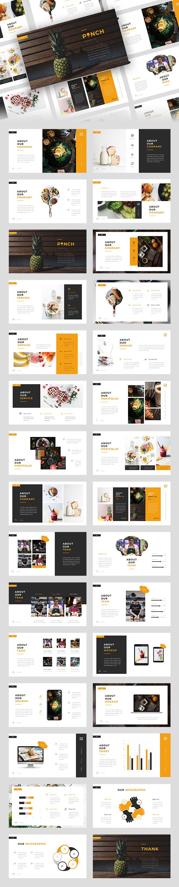 Pinch Food Google Slides Template Powerpoint Presentation Design Presentation Design Book Design Layout