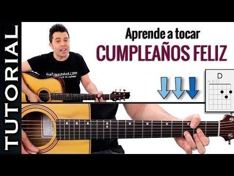 Como Tocar Cumpleaños Feliz En Guitarra Fácil Canción Facil Guitarra Cumpleaños Guitarras Lecciones De Guitarra Canciones
