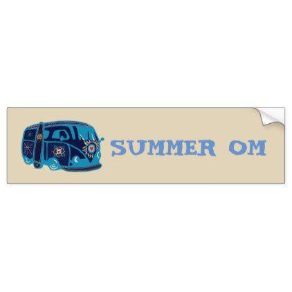 Summer om hippie van bumper sticker