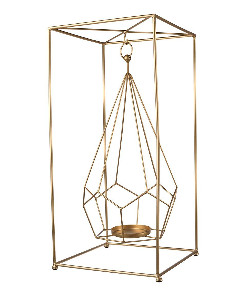 Take a look at this gold faceted box candle holder today candles