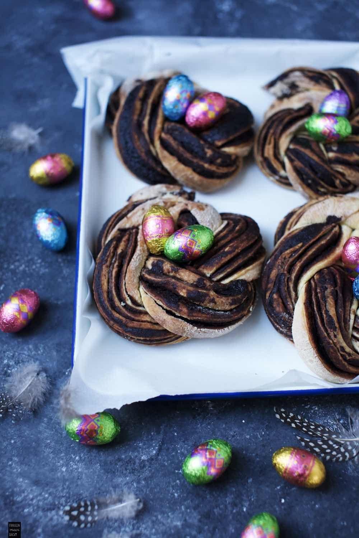 Schokoladen Hefekränze: Zu Ostern oder auch nur so in 2020 ...
