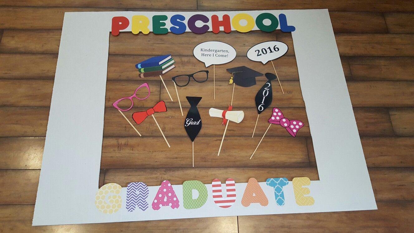 593e0a6c820 Photo booth for preschool graduation party!