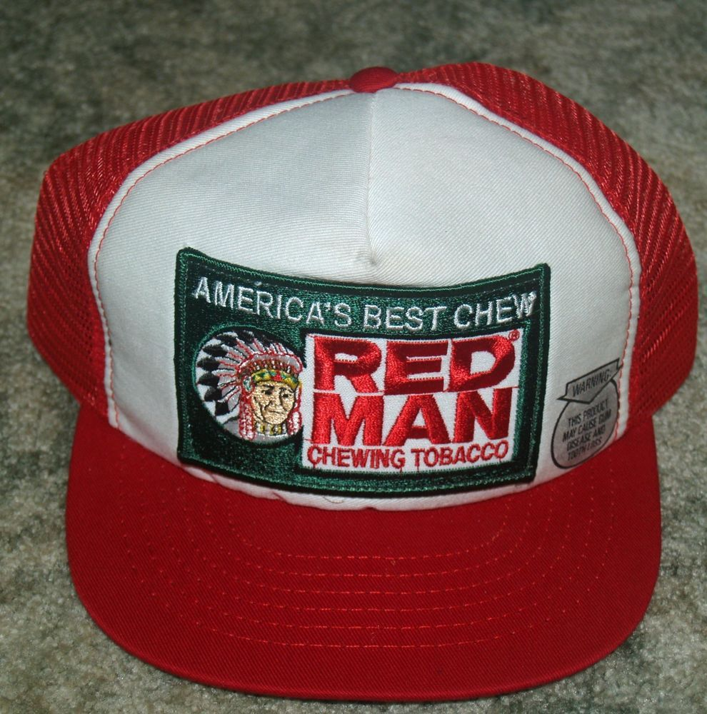 d6a39077 Vintage RED MAN Chewing Tobacco America's Chew Mesh Truckers Cap Hat  Snapback #BaseballCap