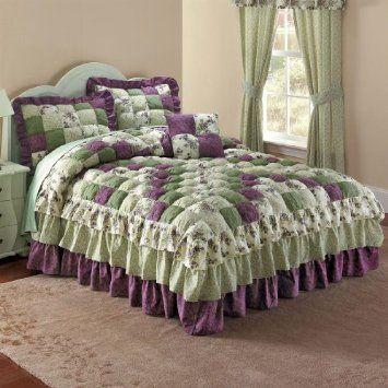 Amazon Com Brylanehome Alexis Bedspread Purple Green