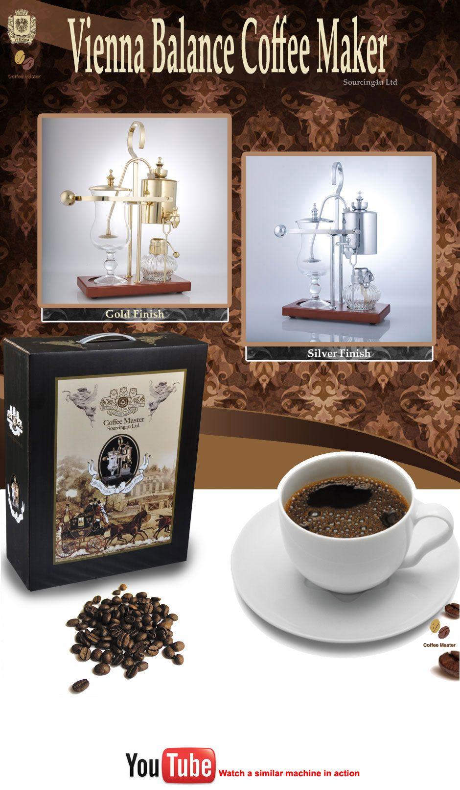 COFFEE-MASTER VIENNA BALANCE SYPHON COFFEE MAKER SIPHON   eBay