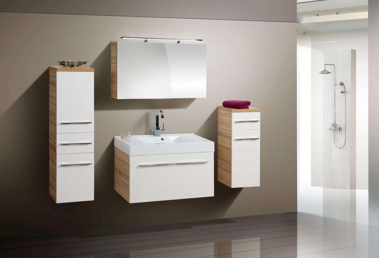 Design Badmöbel Set Spiegelschrank Waschbecken 90 cm Jetzt bestellen ...