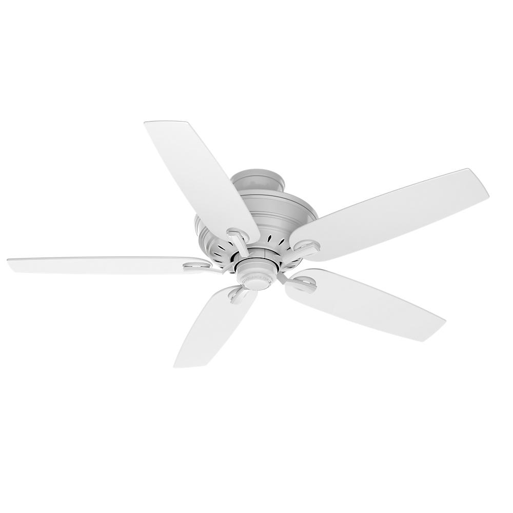 Casablanca Adelaide 54 In Indoor Snow White Ceiling Fan With Hi Gloss Snow White Blades 54157 White Ceiling Fan Ceiling Fan Metal Ceiling