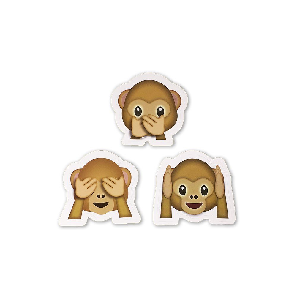 One Monkey Emerges Victorious From Epic Emoji Debate Emoji Emoji Stickers Wise Monkeys