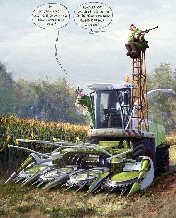 Photo of Landtechnik–MARUNDE   Cartoons & Illustrationen von Wolf-R…