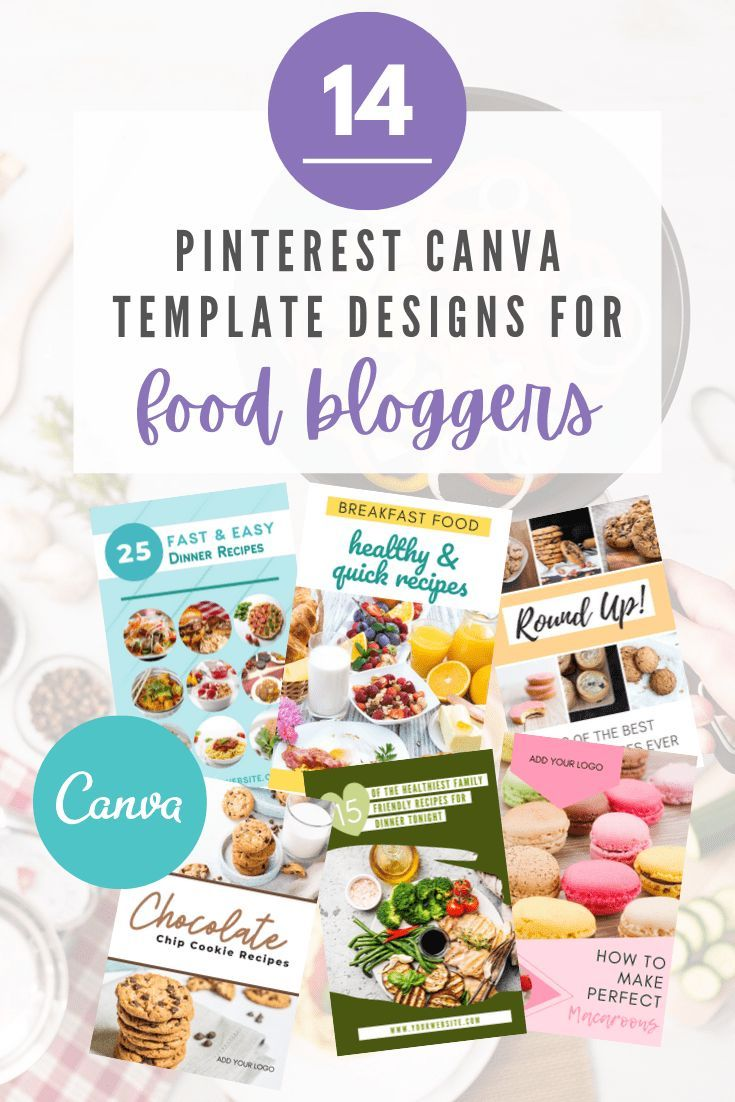 Pinterest Pin Canva Templates for Food Bloggers - The Introvert Coach