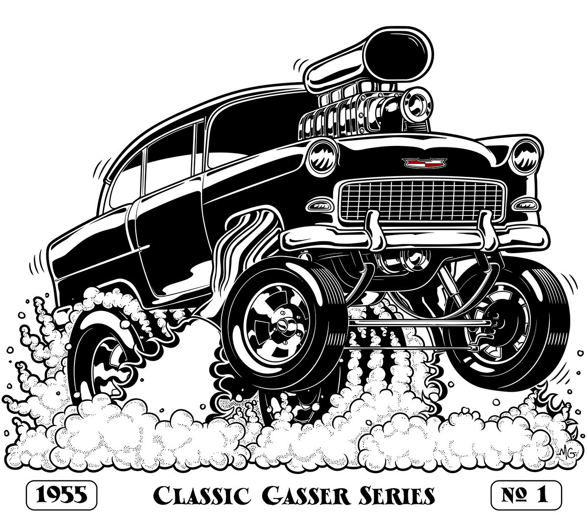1965 chevelle ss wiring diagram database 2010 Chevrolet Monte Carlo SS 55 chevy gasser on behance chevy toons chevy car drawings y 1968 chevelle ss 1965 chevelle ss
