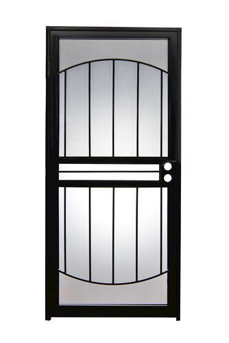 Tru Bolt 502 Arch Steel Prehung Security Storm Screen Door At Menards Security Door Security Storm Doors Interior Wood Shutters