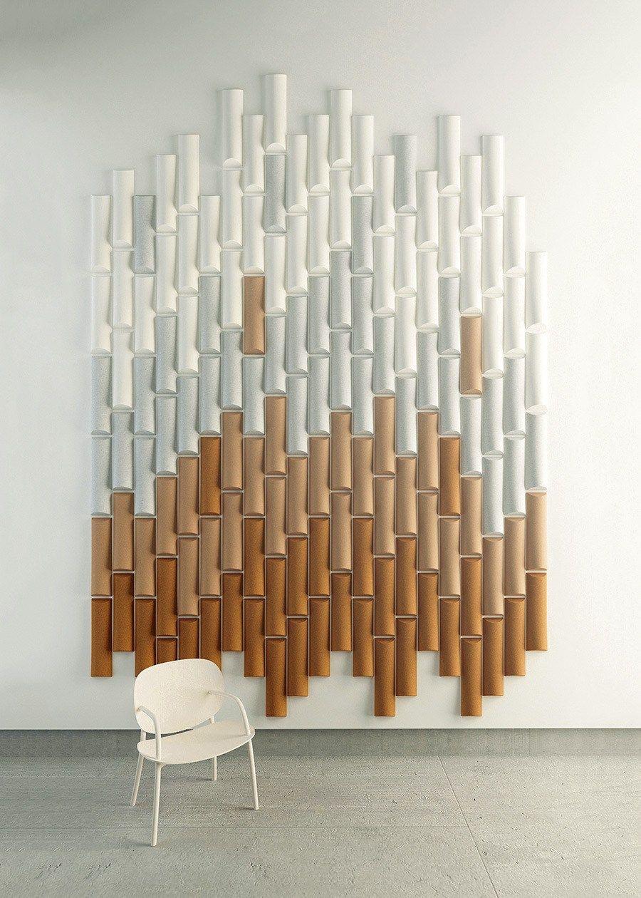 Felt Decorative Acoustical Panels Bamboo Made Design Barcelona Acoustic Wall Panels Acoustic Wall Acoustic Panels