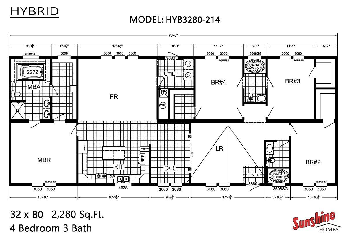 Sunshine Homes Hybrid Hyb3280 214 Sunshine Homes Mobile Home