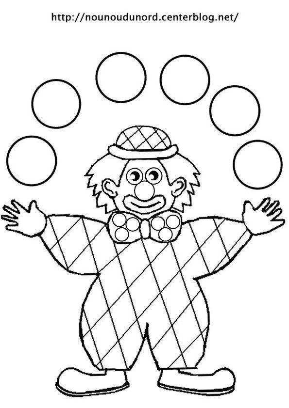 Coloriage De Clown Jongleur Pour Colorier