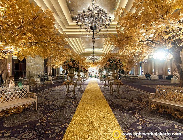 Hari and Selvia's wedding reception Venue at Hotel