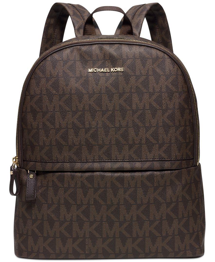 89ed93d430d2 Michael Michael Kors Signature Large Backpack   purses in 2019 ...