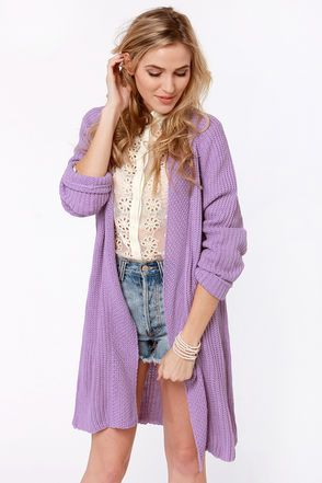 Knits Fine By Me Oversized Lavender Sweater  $78