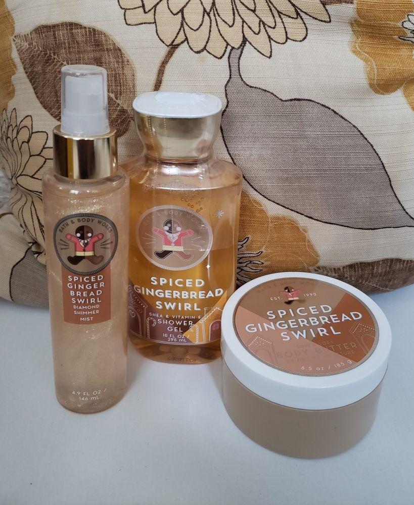Bath And Body Works Spiced Gingerbread Swirl Shower Gel