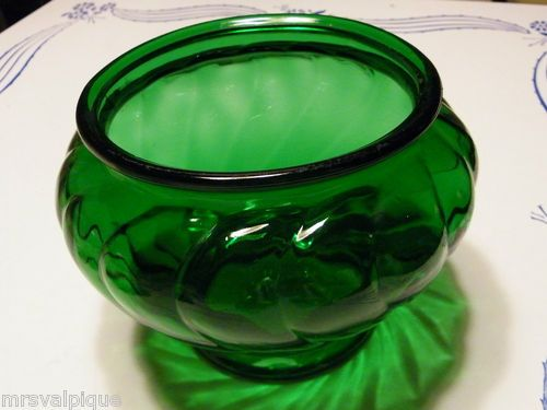 Vintage Emerald Green Napco Cleveland Ohio Glass Vase Container Centerpiece | eBay $14.41