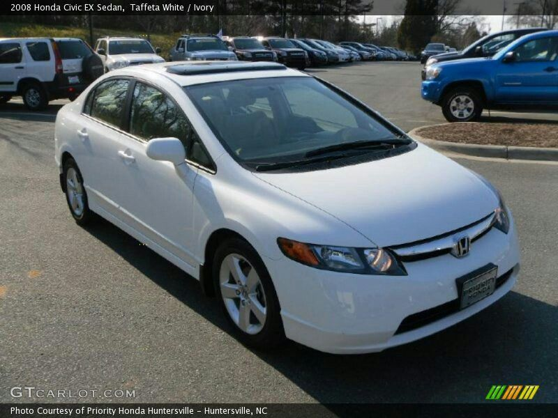 Taffeta White / Ivory 2008 Honda Civic EX Sedan