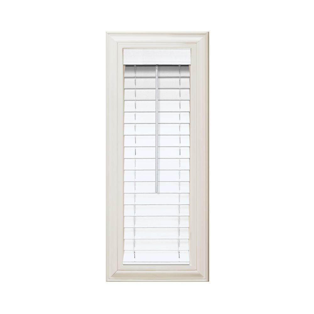 Home Decorators Collection White 2 in. Faux Wood Blind - 10 in. W x ...
