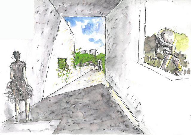 廖偉立建築師 - 葉毓繡美術館 sketches 10 - 廖偉立建築師手繪稿.jpg by eageriseager, via Flickr