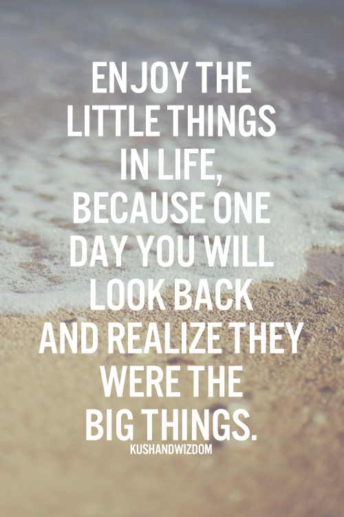 Enjoy The Little Things In Life Because One Day Youll Look Back