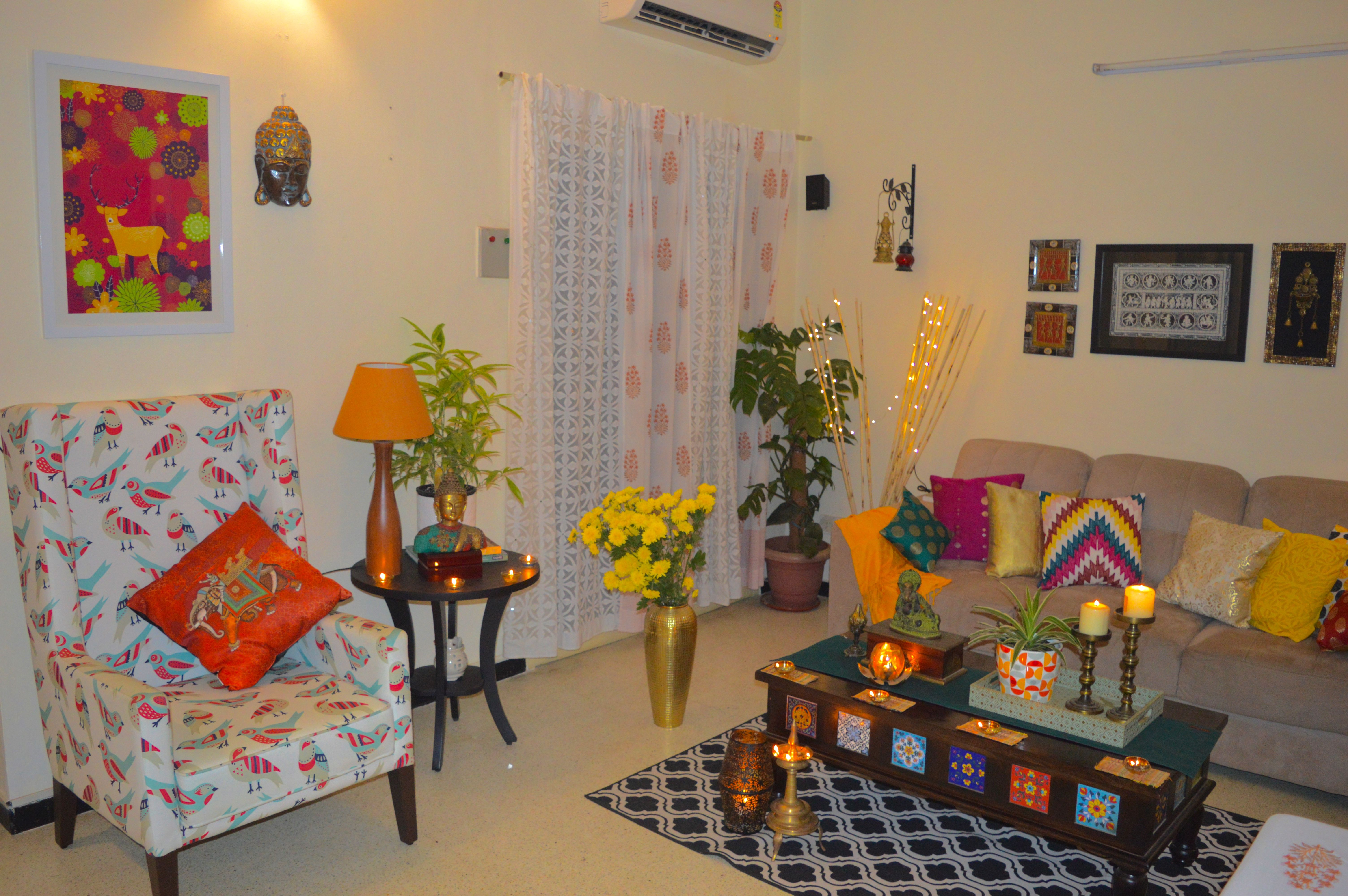 Diwalihomedecor Livingroom Indianhome Livingroomdecor Decoration Coffeetable Cushions Flowers Brass Indiand Indian Decor Small Bedroom Designs Decor