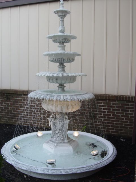 Victorian Reproduction 5 Tier Cast Aluminum Fountain In