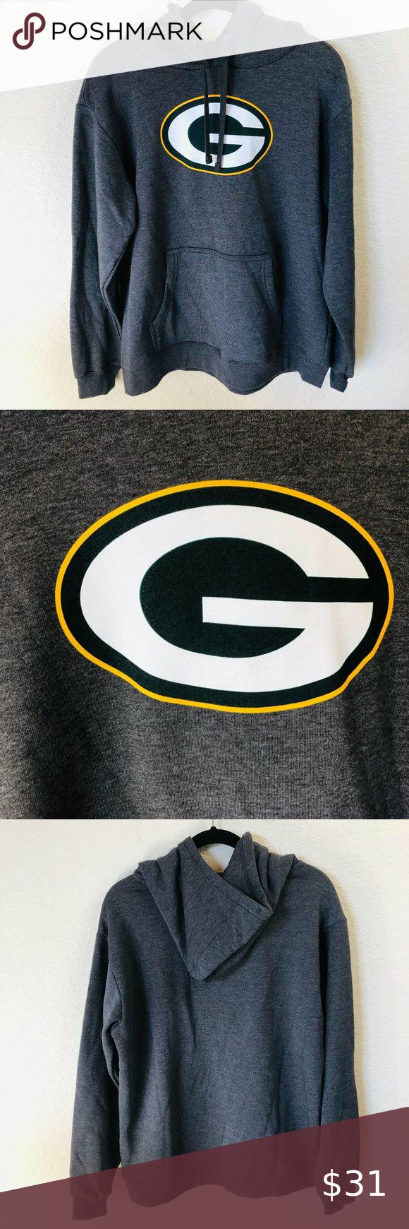 Green Bay Packers Men S Hooded Sweatshirt Size L Men S Grey Green Bay Packers Hooded Sweatshirt New Wit Hooded Sweatshirts Hooded Sweatshirt Men Sweatshirts [ 1740 x 580 Pixel ]