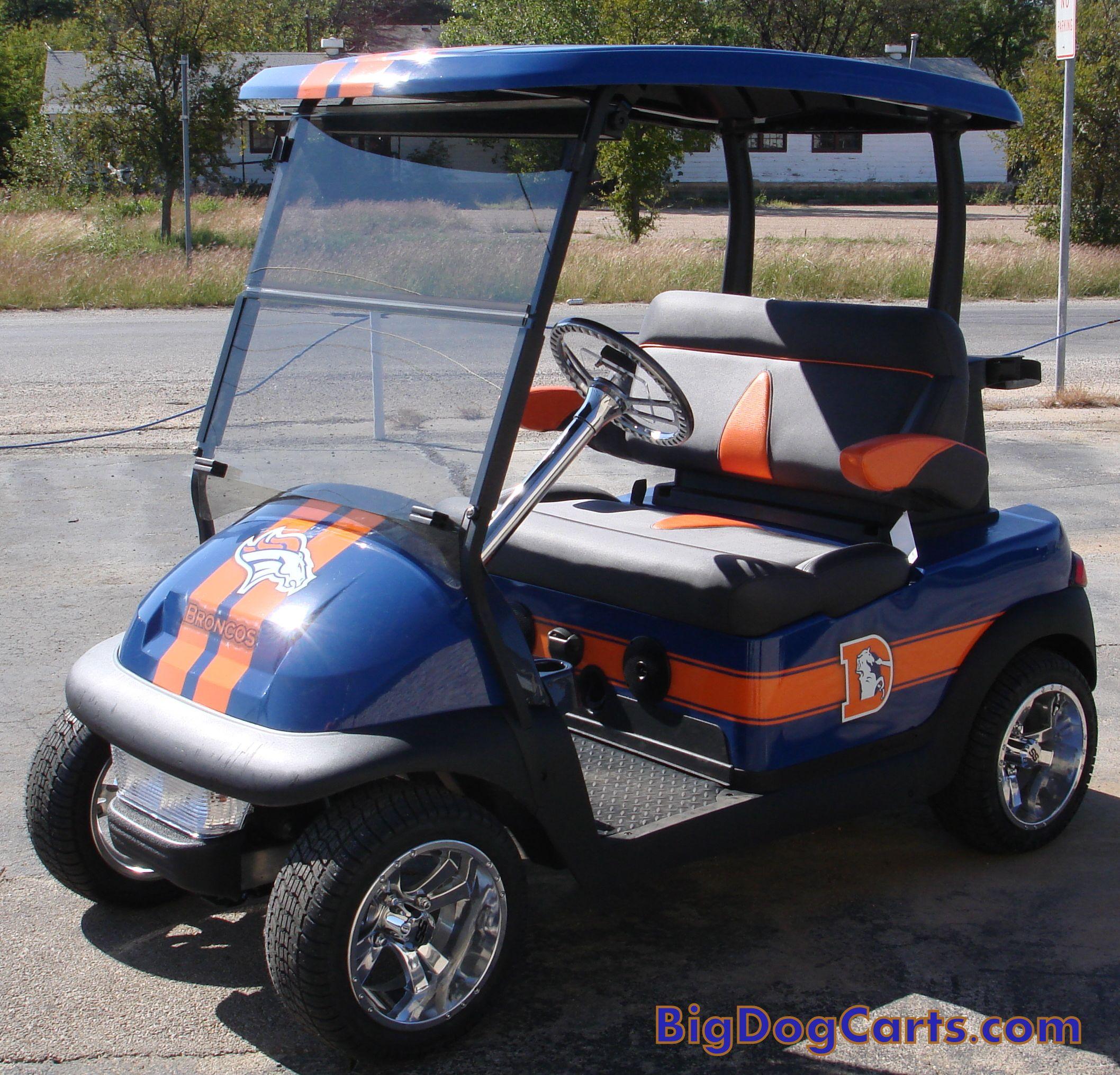Custom Golf Carts -- Denver Broncos Cart