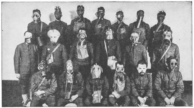 Turbaned heads in 28mm with breathers/gas masks