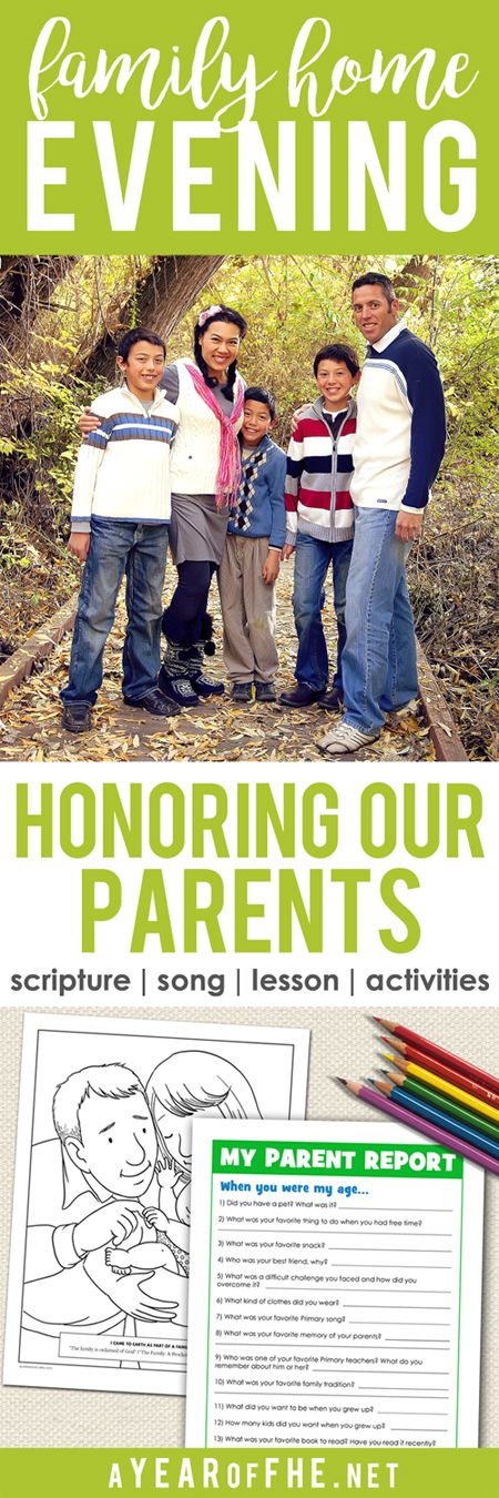 A Year of FHE // a Family Home Evening lesson plan that teaches young children…