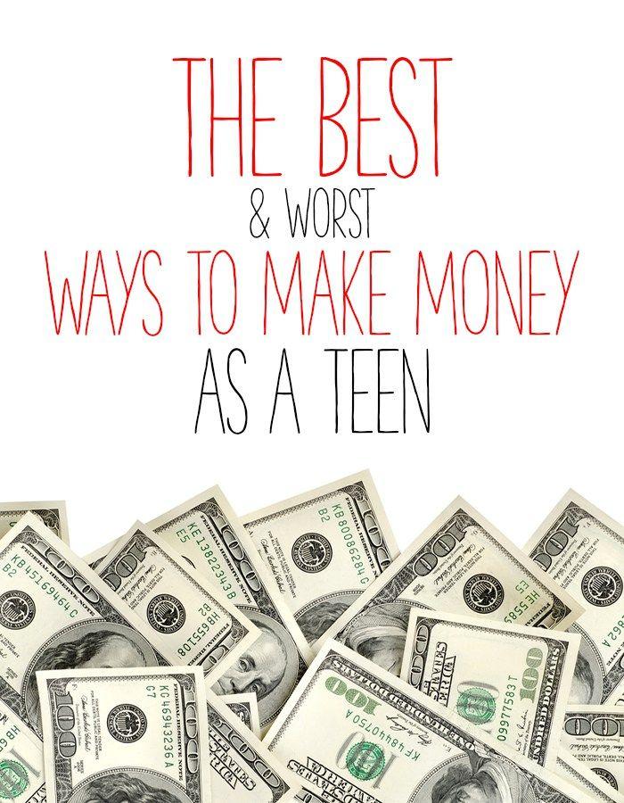 ways to make money as a teen best worst diy entrepreneurship ish pinterest geld. Black Bedroom Furniture Sets. Home Design Ideas