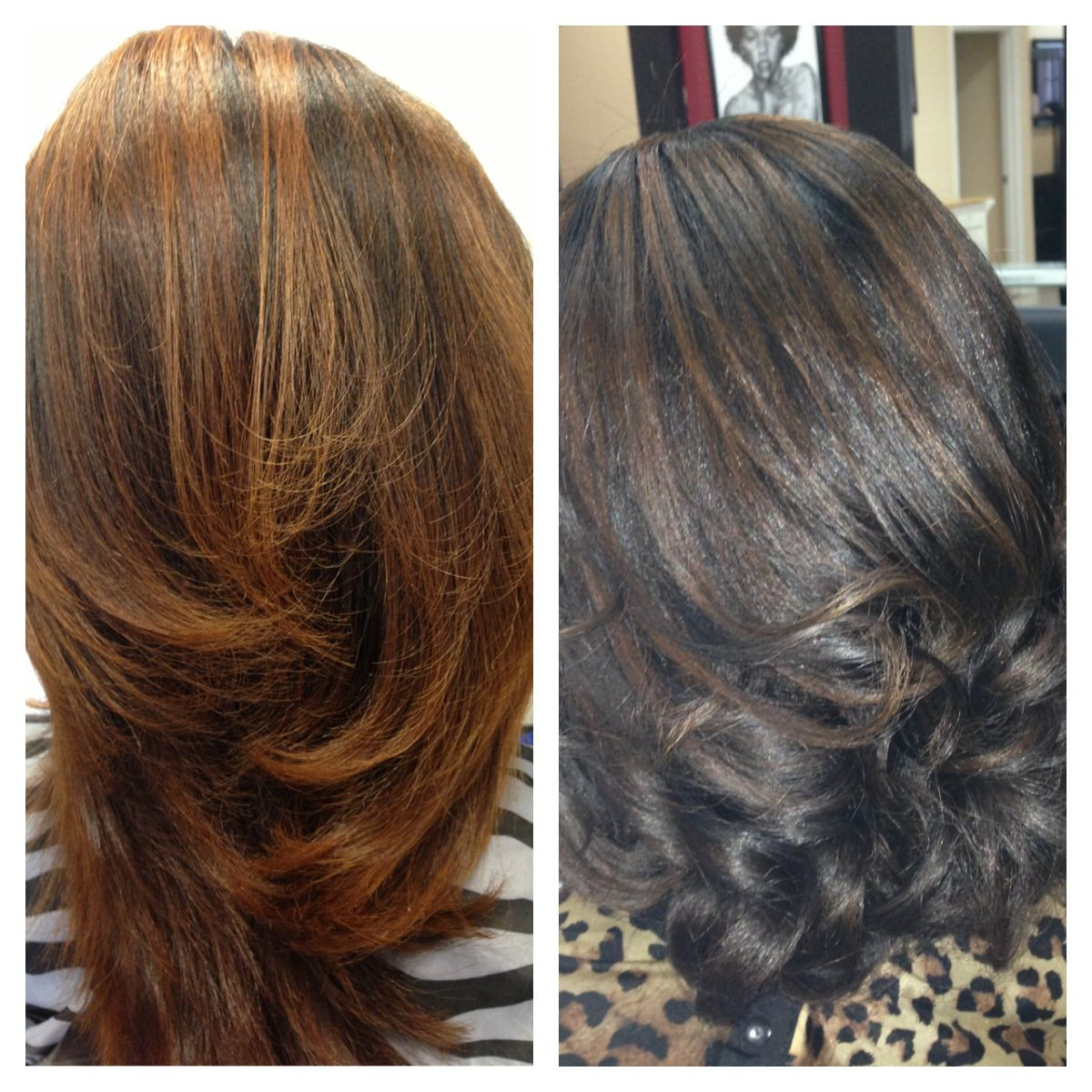 Transform to fall hair with low lights.