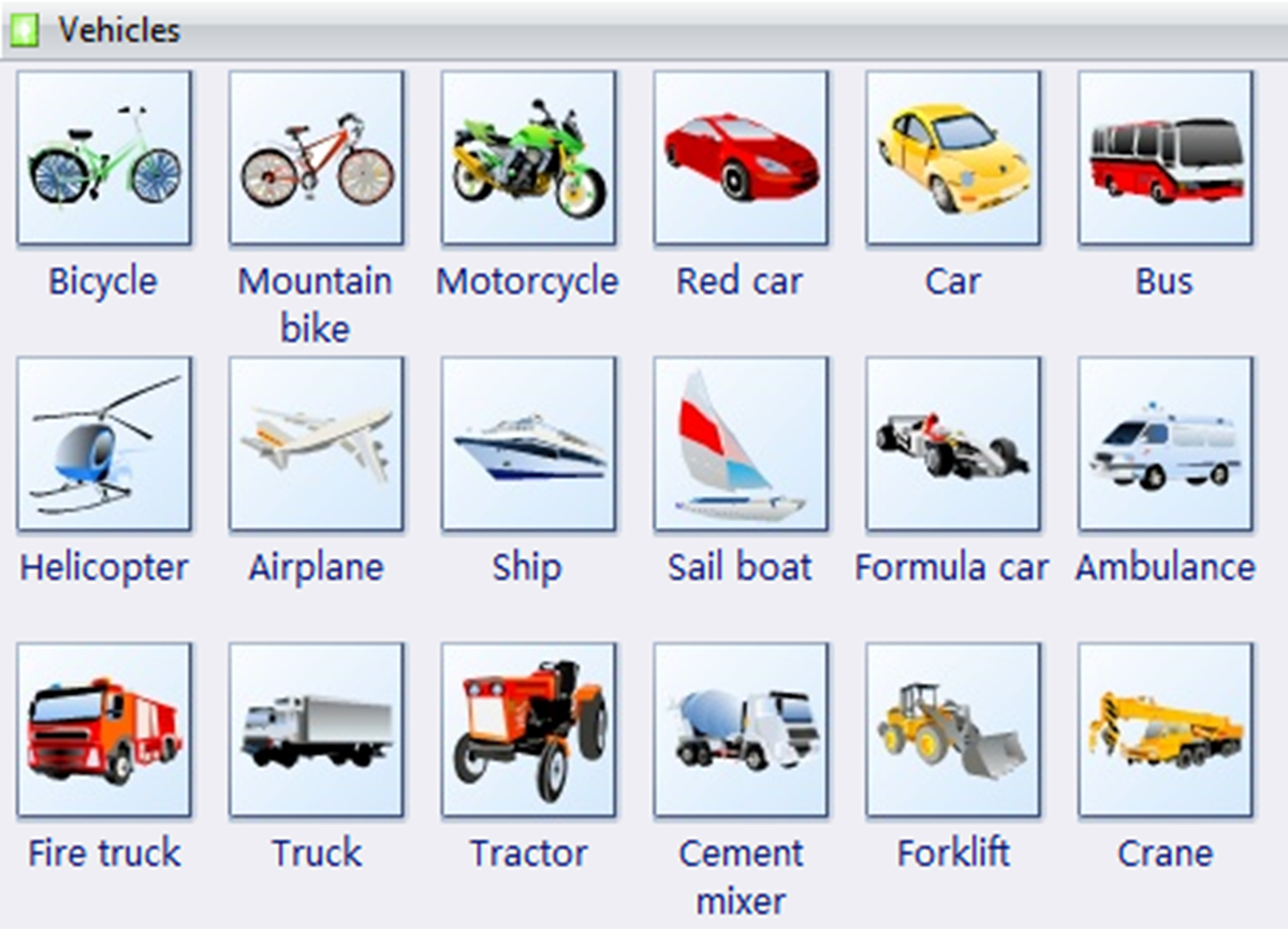 Common Vehicles And Modes Of Transportation Vocabulary