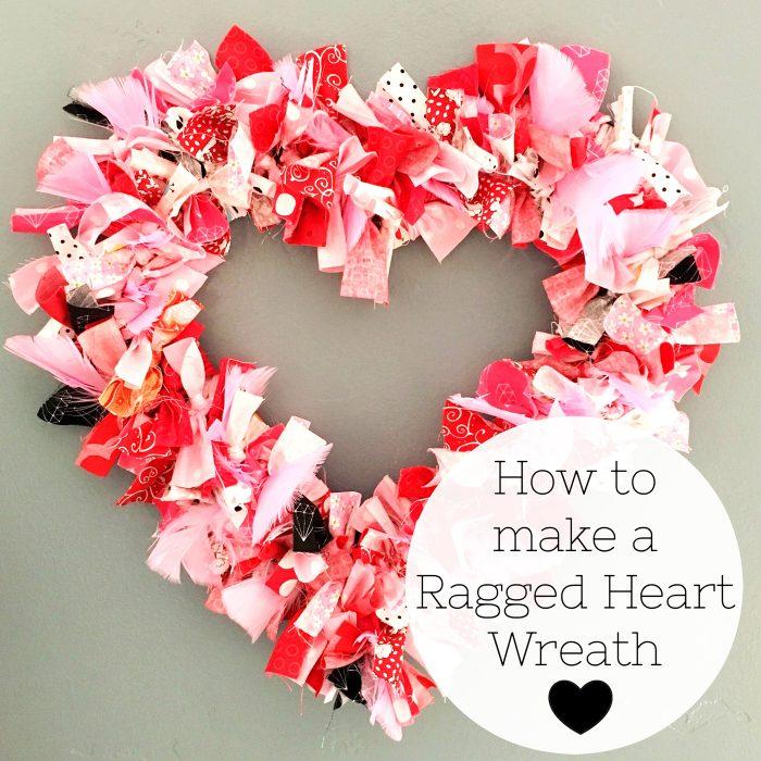 Heart Fabric Rag Wreath Tutorial How to make a Valentine's Heart Fabric Rag Wreath- a cute Valentine's Day Craft idea. Rag Wreath Tutorial