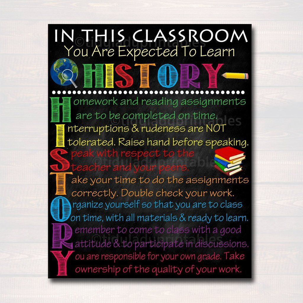 Photo of HISTORY Classroom Poster