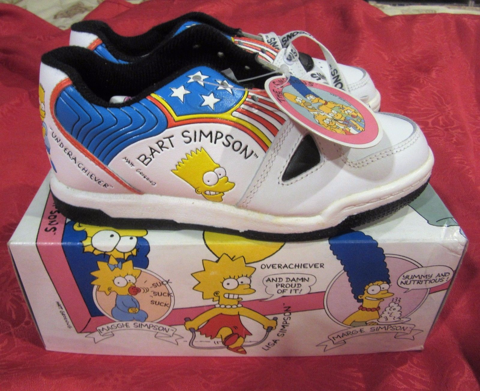 b3f4a55f4 The Simpsons Bart Simpson ULTRA RARE Vintage Sneakers Shoes NIB 1991 NOS  FOR SALE •