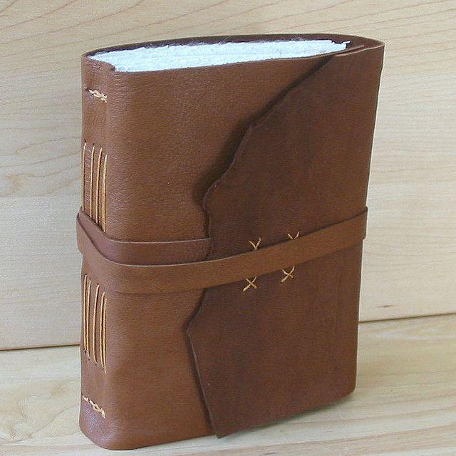 Handbound Journal Or Sketchbook, Brown Leather, Medieval
