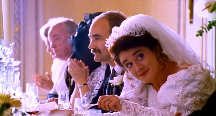 Four Weddings And A Funeral Sophie Thompson As Lydia David Haig Bernard Are Bride