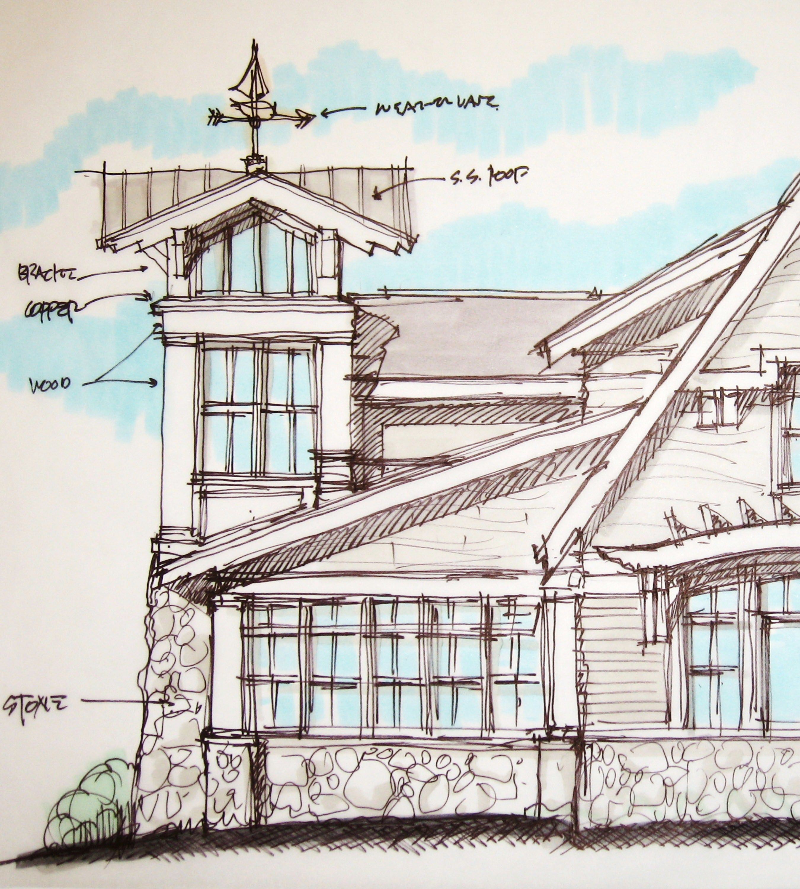 Concept Sketch For A Lake House Would You Like A Lighthouse Tower Lake House Lighthouse Tree House Plans