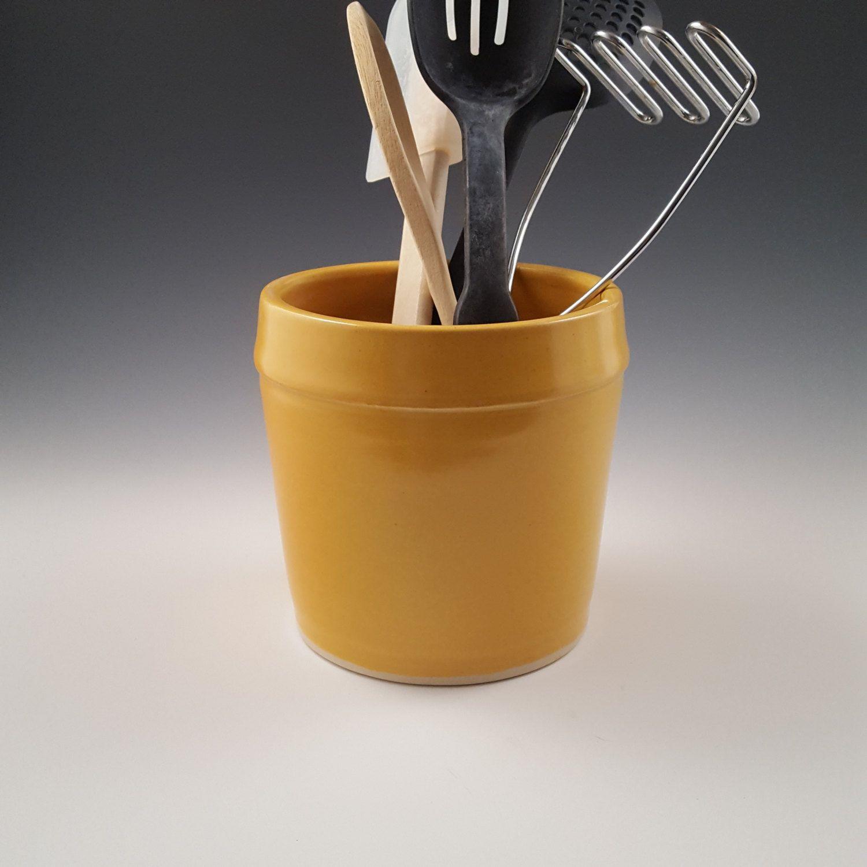 Kitchen Utensil Holder Handmade Ceramic Utensil Holder Utensil Crock Kitchen Utensil