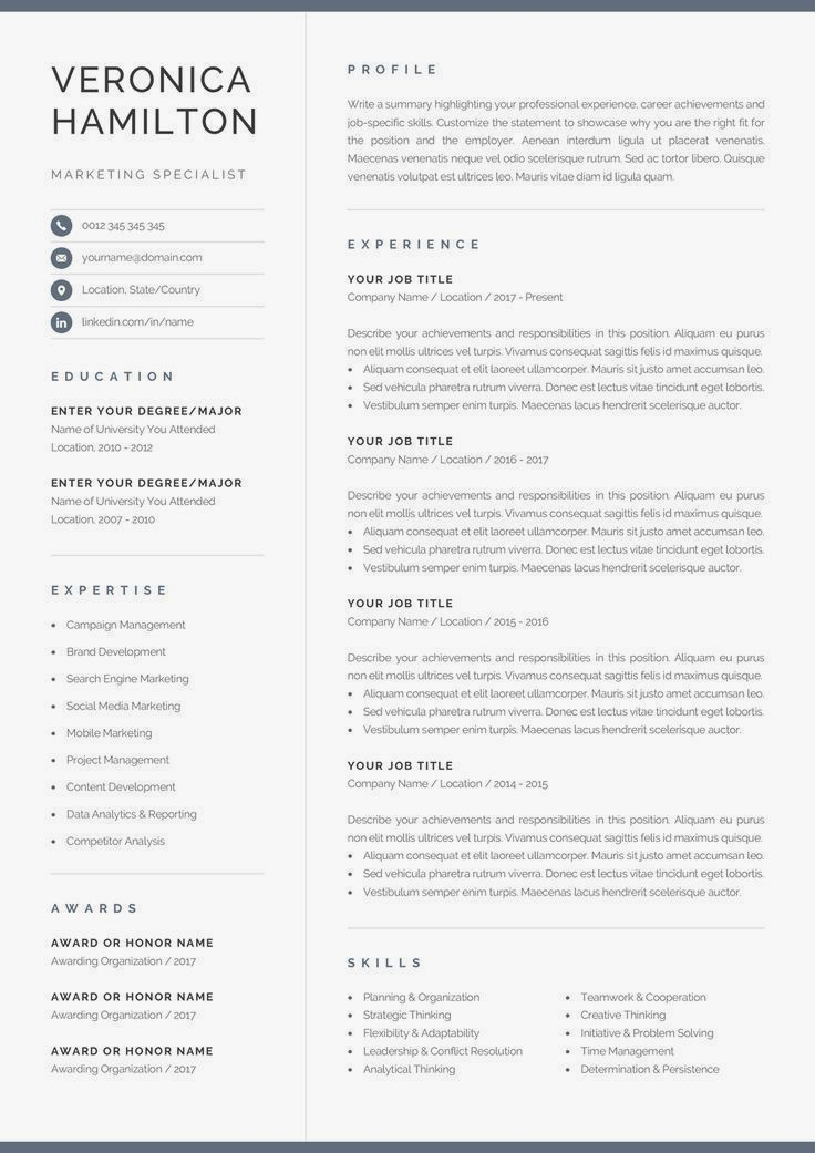 10++ Free modern resume templates for pages Examples