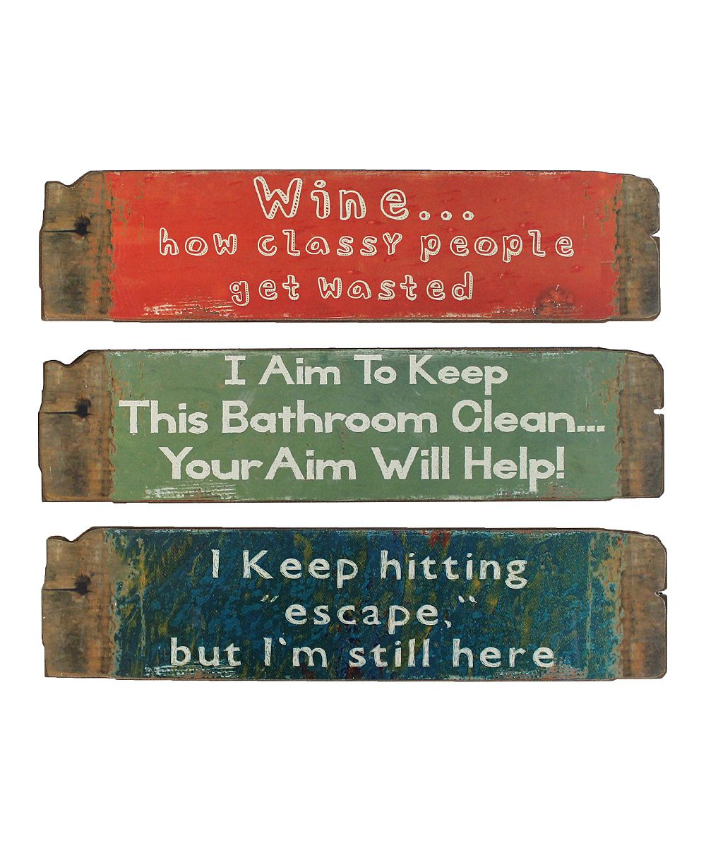 'Escape' Plaque Set