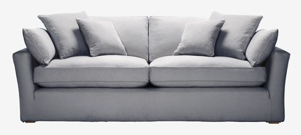 Caruso 4 seater sofa with removable covers in Echo eucalyptus ...